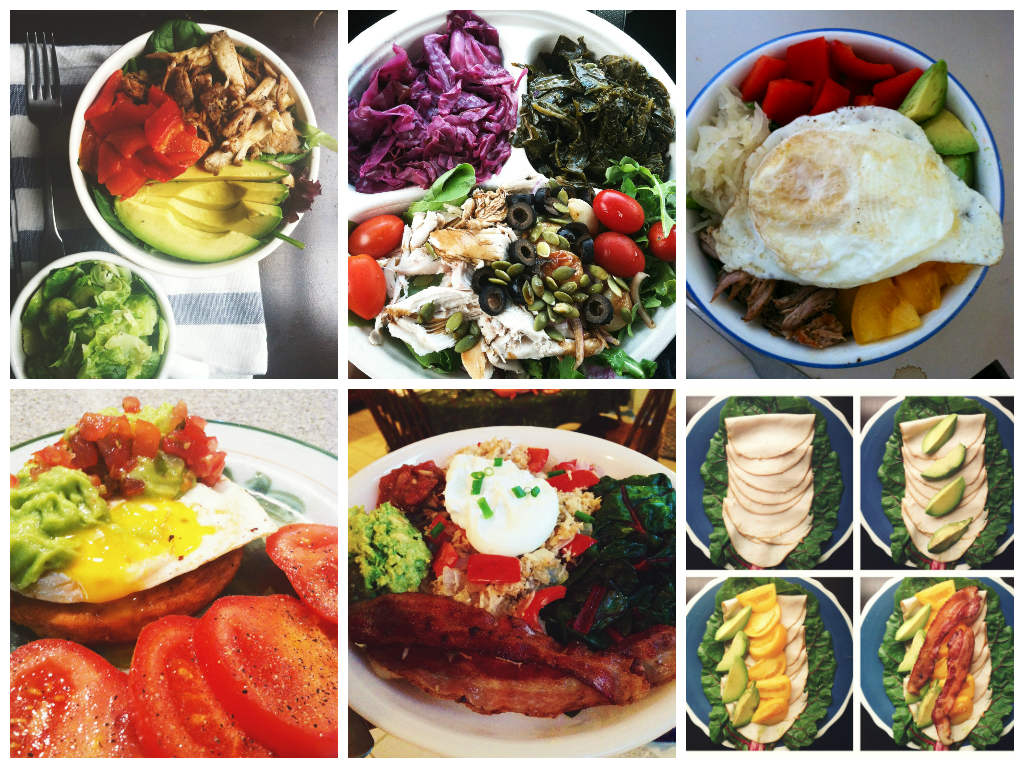 lunch dinner collage