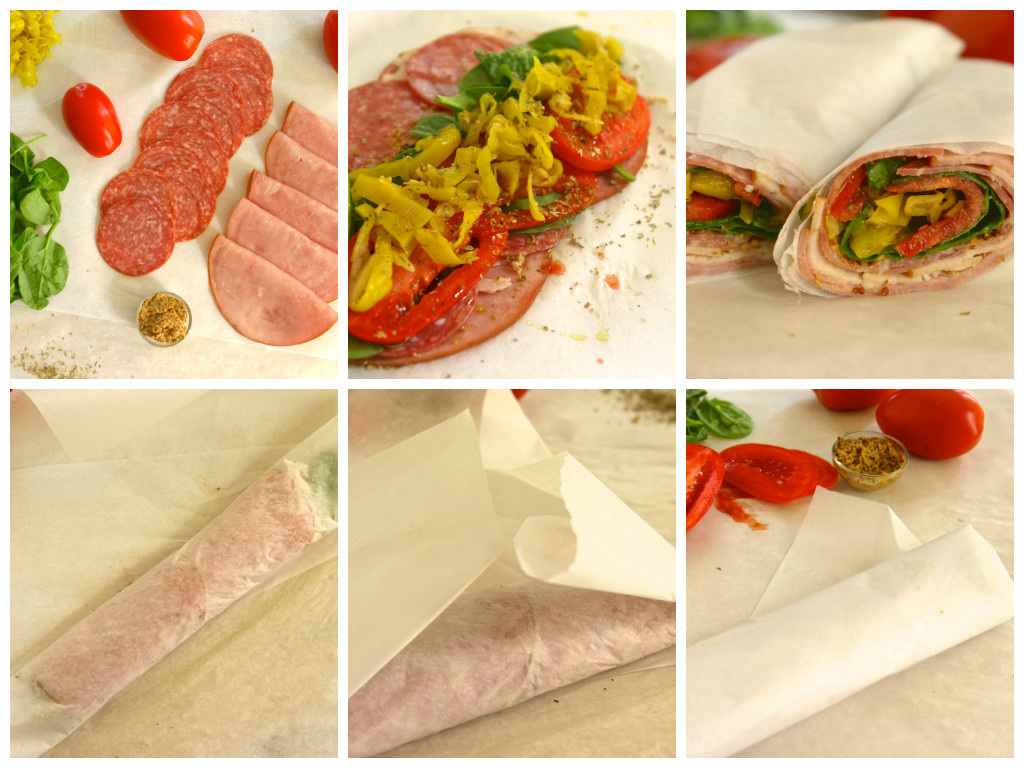 paleo italian sub roll up sandwich