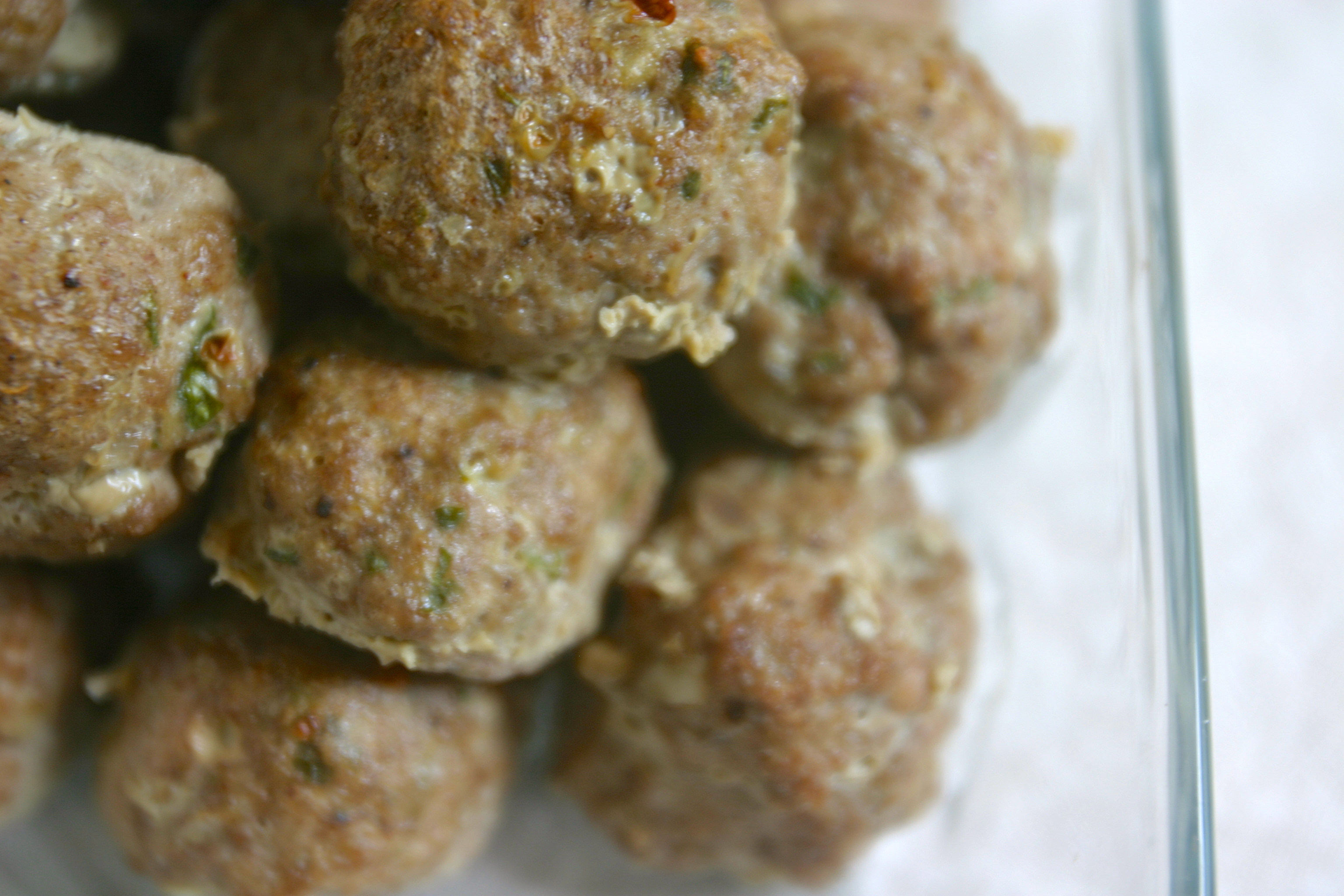 paleo kofta meatballs and sunshine sauce